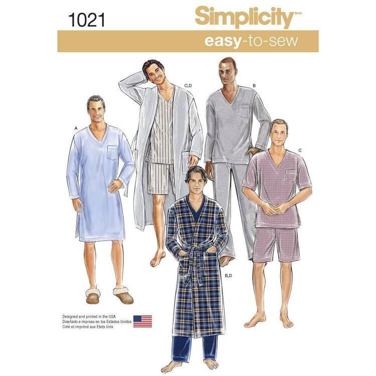 Simplicity Pattern 1021 Men's Classic Pyjamas & Robe