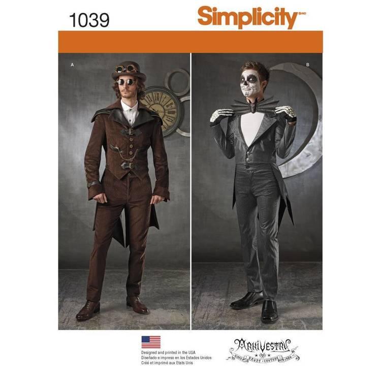 Simplicity Pattern 1039 Men's Cosplay Costume