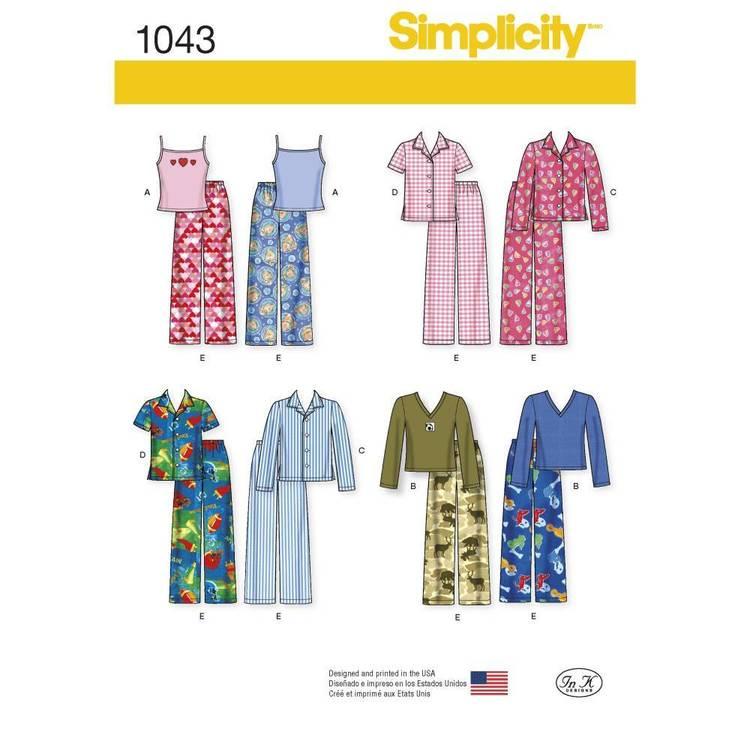 Simplicity Pattern 1043 Child's Girls' & Boys' Separates