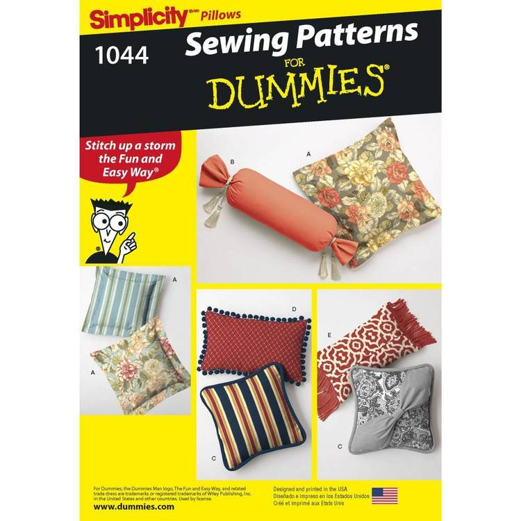 Simplicity Pattern 1044 One Size Pillows In Various Styles