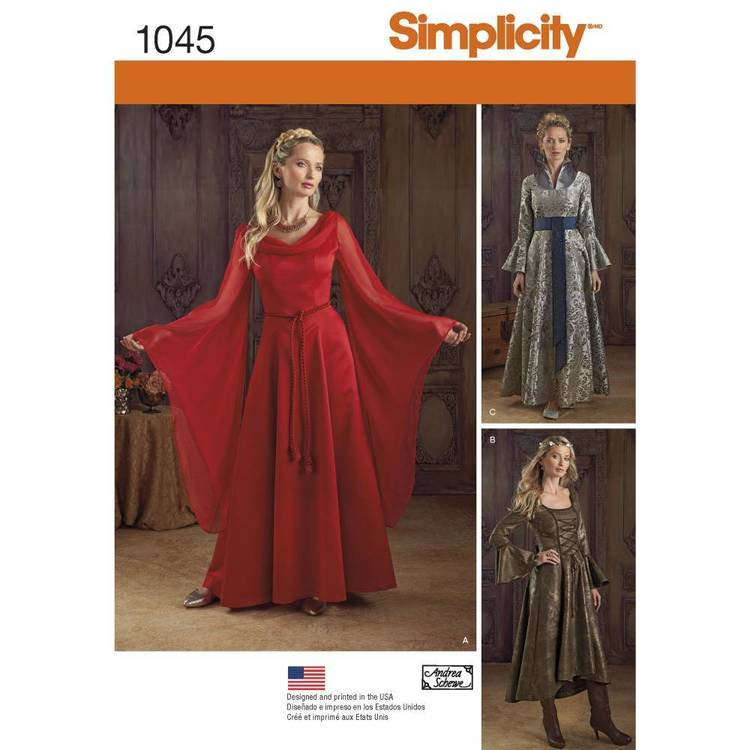 Simplicity Pattern 1045 Misses' Fantasy Costume