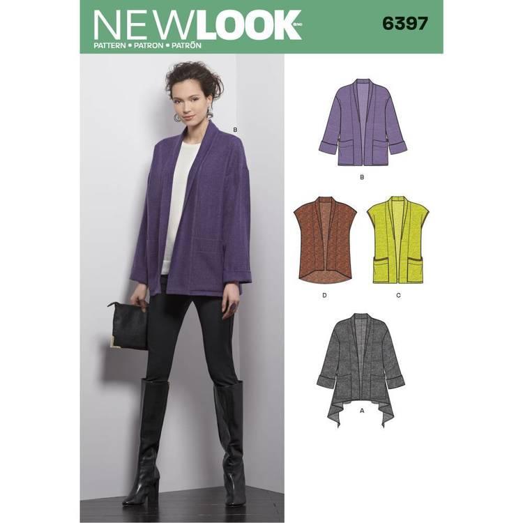 New Look Pattern 6397 Misses' Jacket & Vest