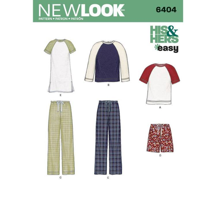 New Look Pattern 6404 Misses' & Men's All Size Separates