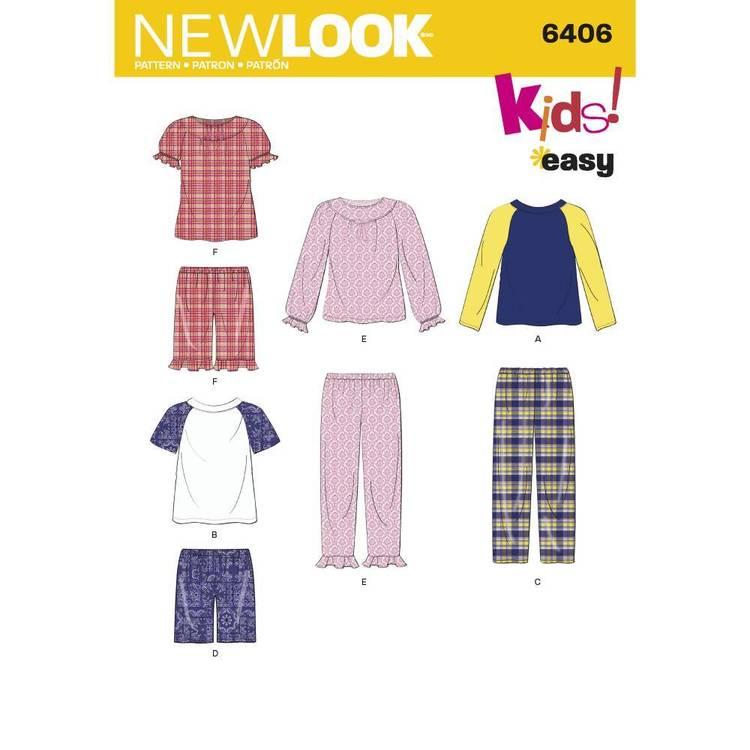 New Look Pattern 6406 Children's Separates