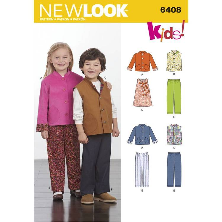 New Look Pattern 6408 Children's Separates