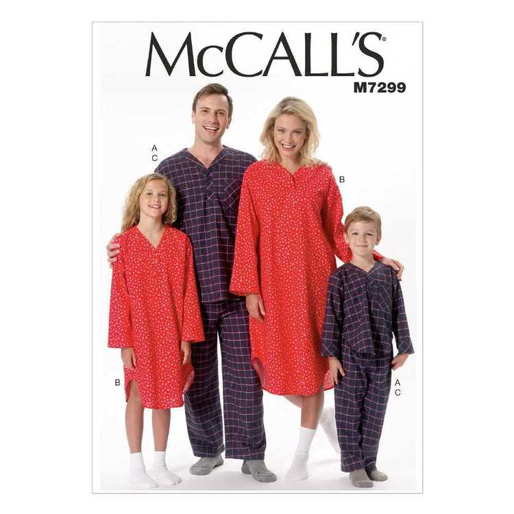 McCall's Pattern M7299 Misses'/Men's/Boys'/Girls' Patch Pocket Top