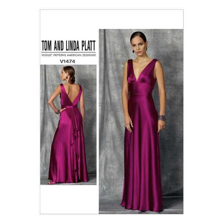 Vogue Pattern V1474 Tom & Linda Platt Misses' Dress