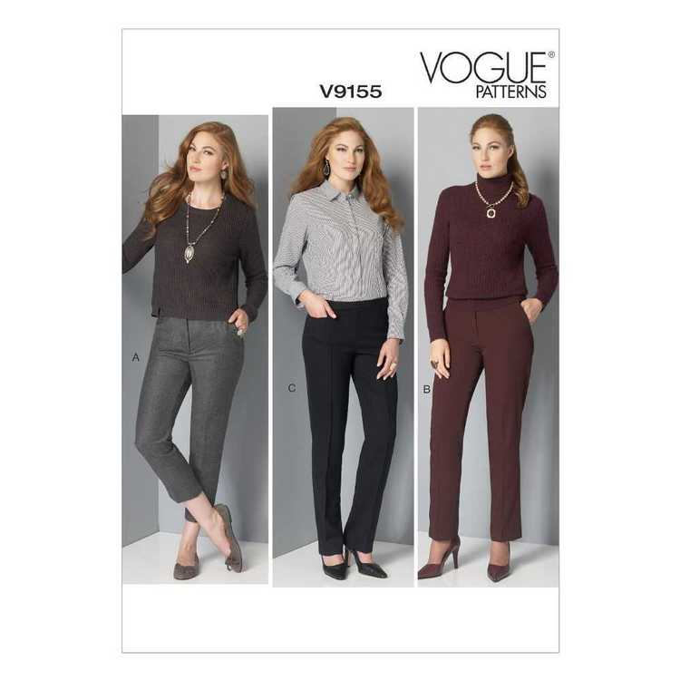 Vogue Pattern V9155 Misses' Petite Pants