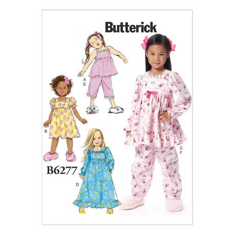 Butterick Pattern B6277 Children's/Girls' Gathered Tops