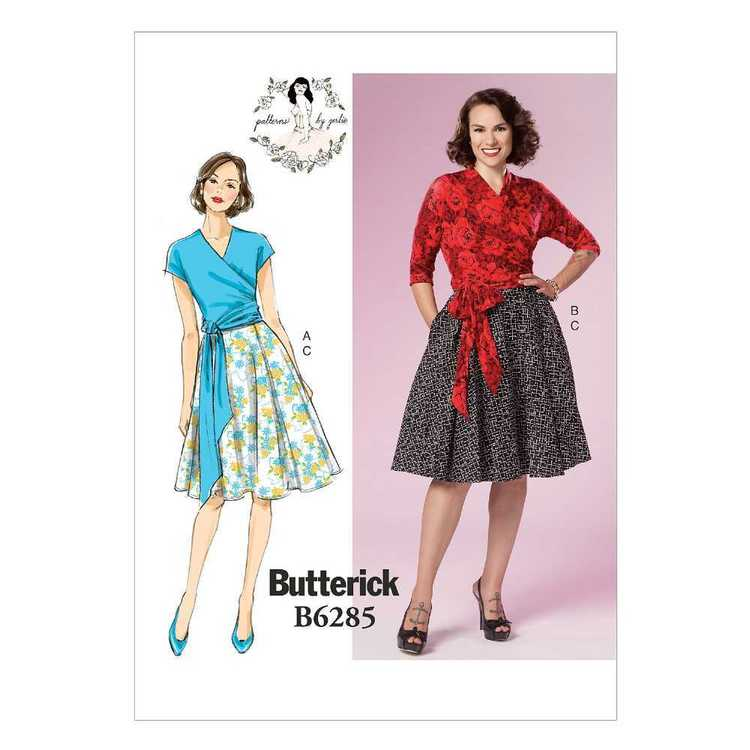 Butterick Pattern B6285 Misses' Top & Skirt Patterns By Gertie
