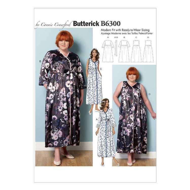 Butterick Pattern B6300 Misses'/Women's Raised-Waist Robes