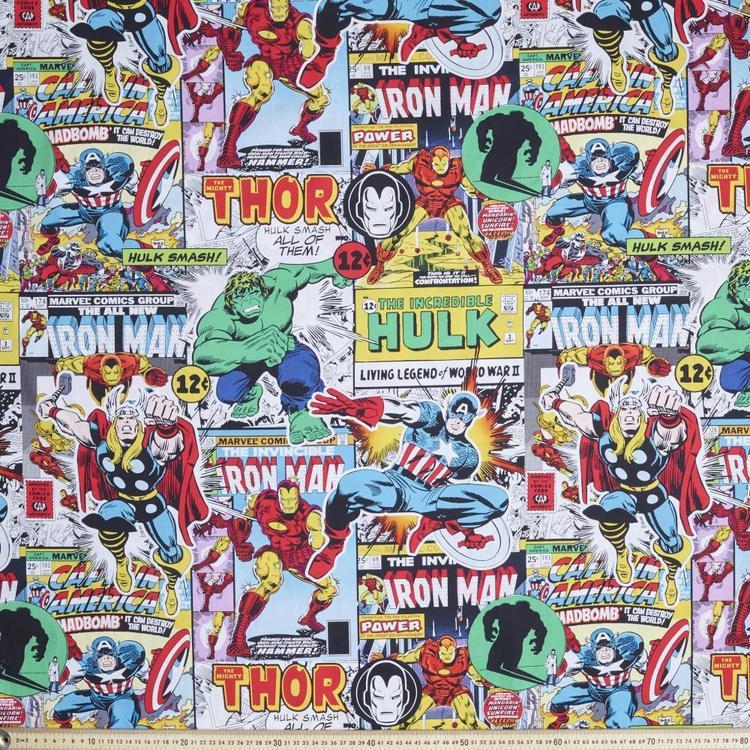 Marvel Avengers Comic Rotary Poplin