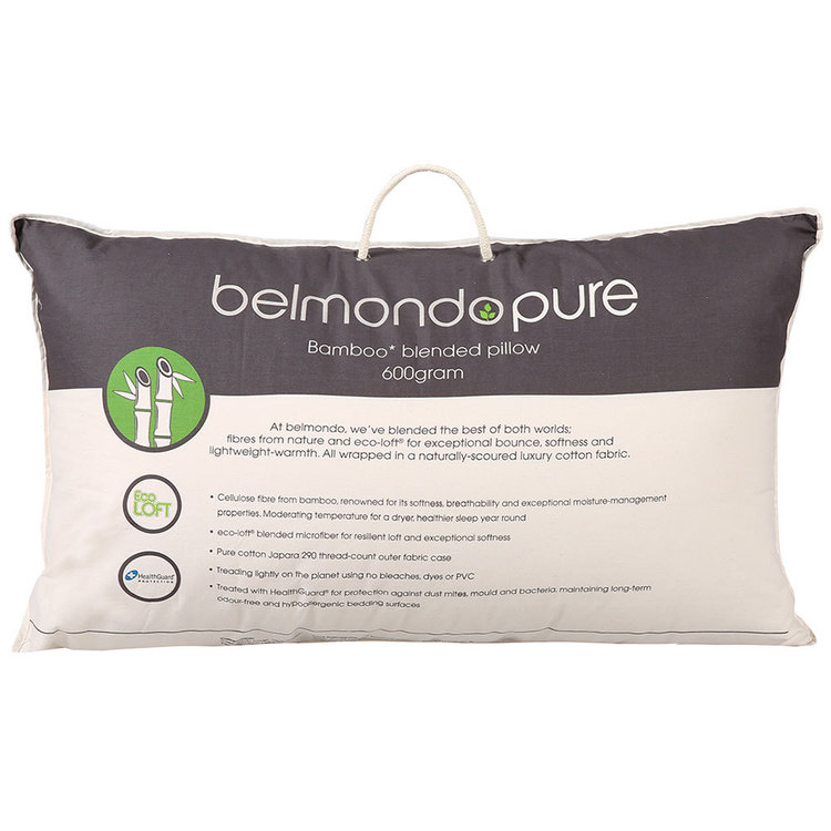 Belmondo Pure Bamboo Blend Pillow Natural Standard