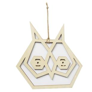 Shamrock Craft Geometric Plywood Owl Hanger