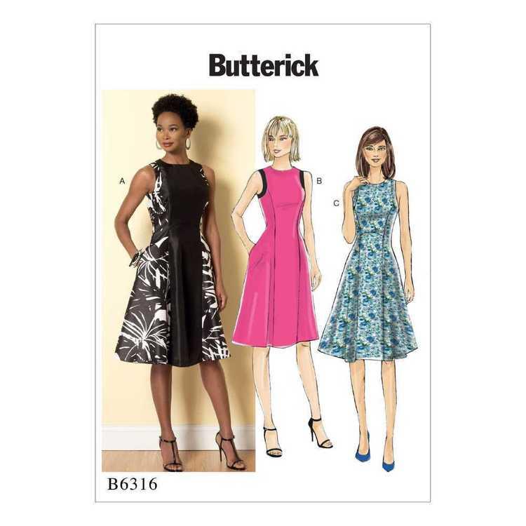 Butterick Pattern B6316 Misses' Sleeveless Fit & Flare Dresses