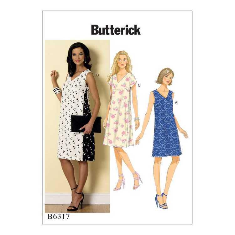 Butterick Pattern B6317 Misses' Pullover V-Neck Dresses