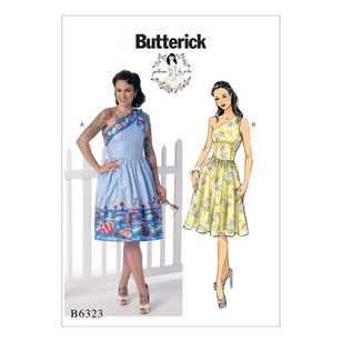 Butterick B6323 Misses' One-Shoulder Dresses
