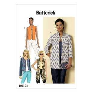 Butterick Pattern B6328 Misses' Open-Front Jackets