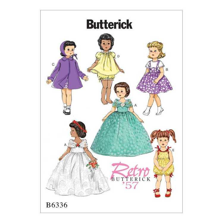 Butterick Pattern B6336 Retro Outfits For 18 In Doll