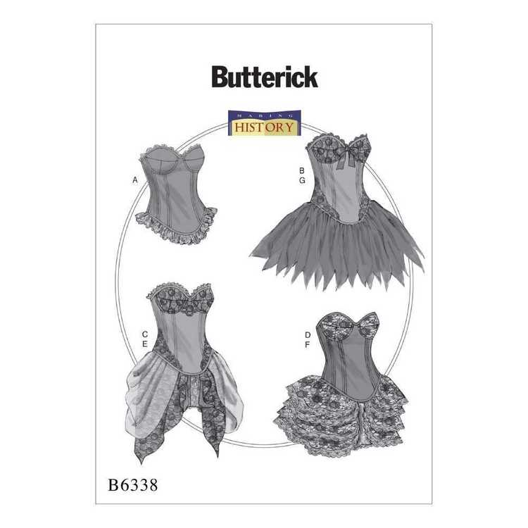 Butterick Pattern B6338 Curved-Hem Corsets & Skirts