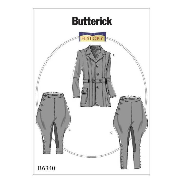 Butterick Pattern B6340 Banded Jacket Breeches & Jodhpurs
