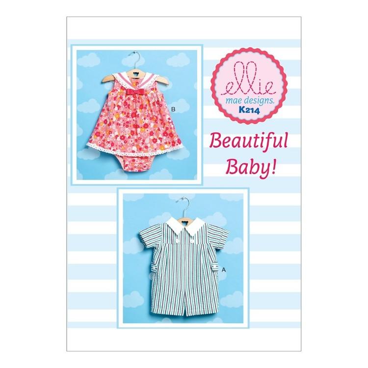 Kwik Sew Pattern Babies' Romper Sailor Dress & Panties