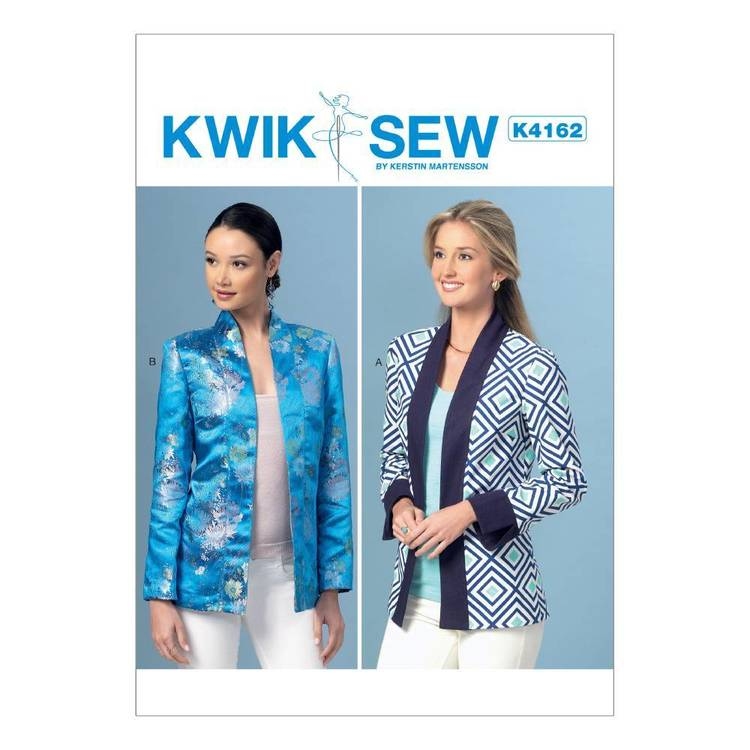 Kwik Sew Pattern Misses' Open-Front Banded Jackets
