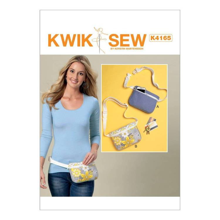 Kwik Sew Pattern Zip-Closure Belly Bags