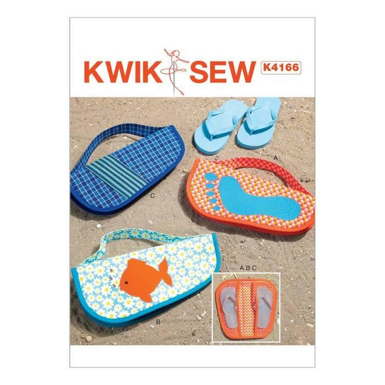 Kwik Sew Pattern Appliqued Flip Flop Cases