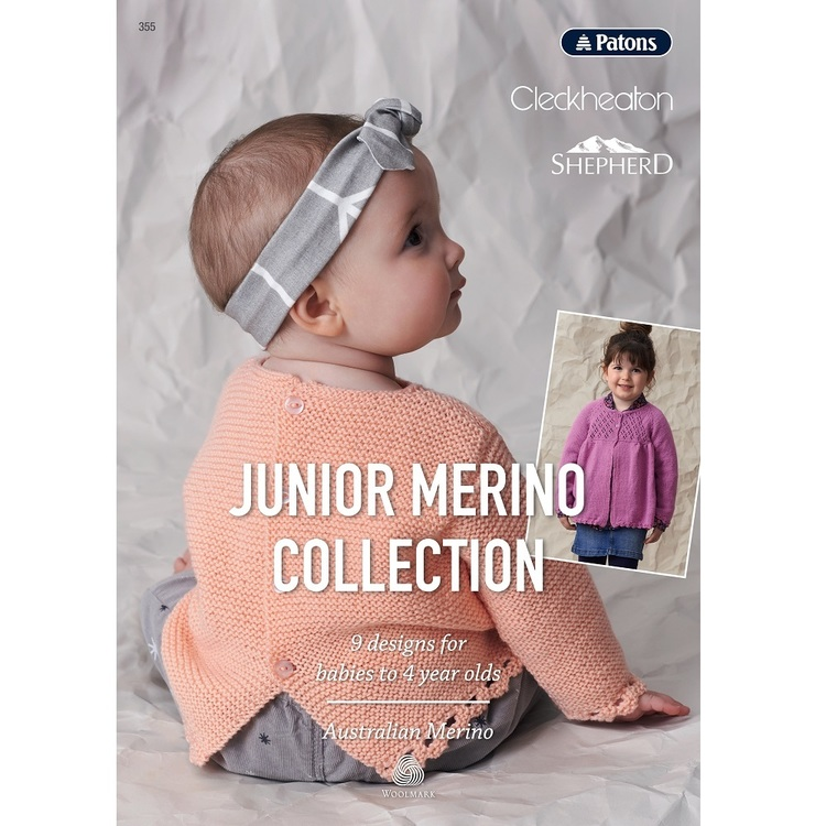 Patons Junior Merino Collection Pattern Book