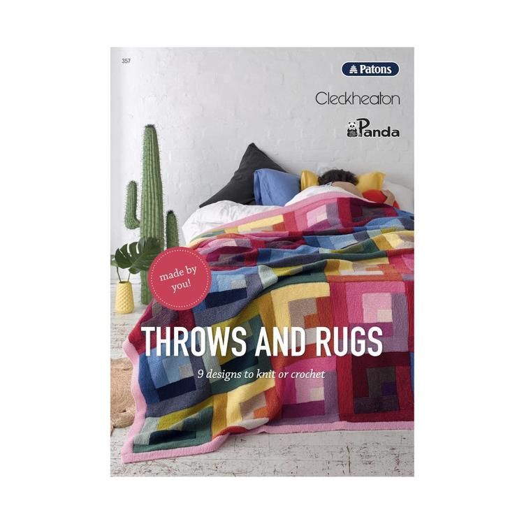 Patons Throws And Rugs Pattern Book