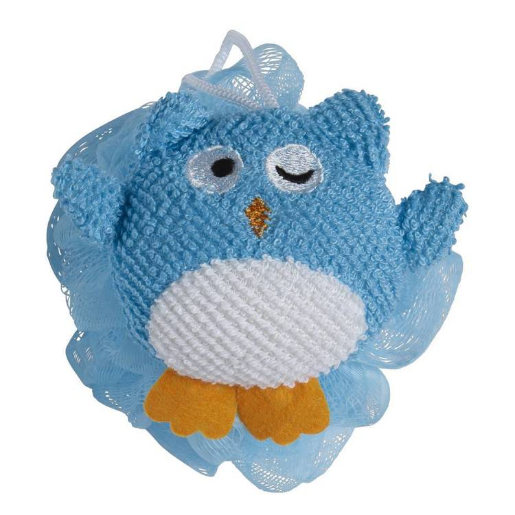 Brampton House Kids Bath Owl Sponge Blue