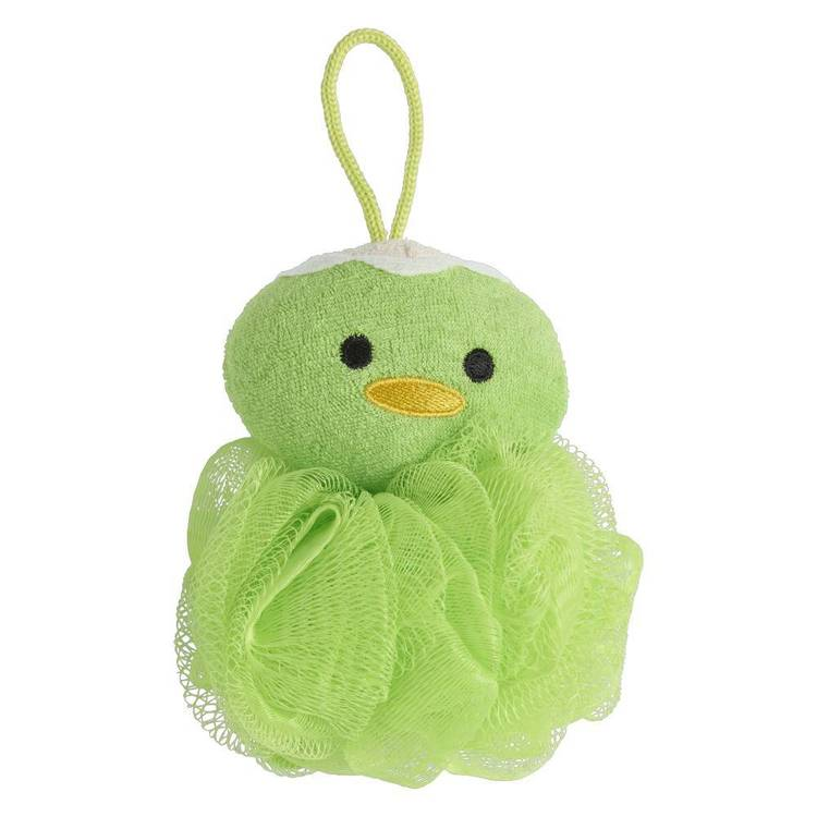 Brampton House Kids Bath Duck Sponge Green