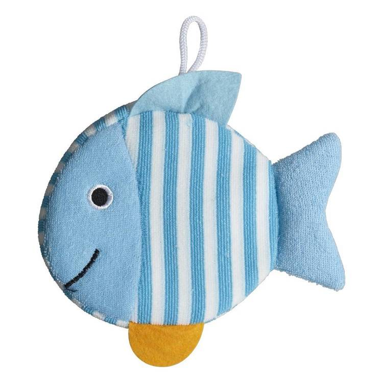 Brampton House Kids Bath Fishy Loofah Blue