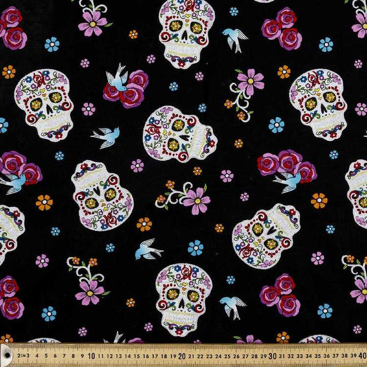 Day Of The Dead With Bird Fabric