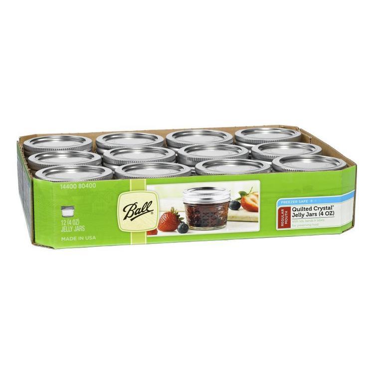 Ball Regular Quilted Jar 12  Pack