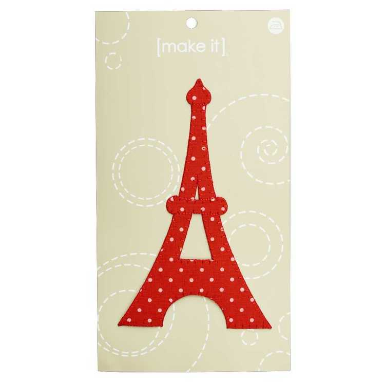 Make It Jumbo Red Dot Eiffel Motif Red 9.5 x 15.3 cm