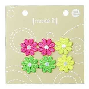 Make It Fluro Flowers Motif
