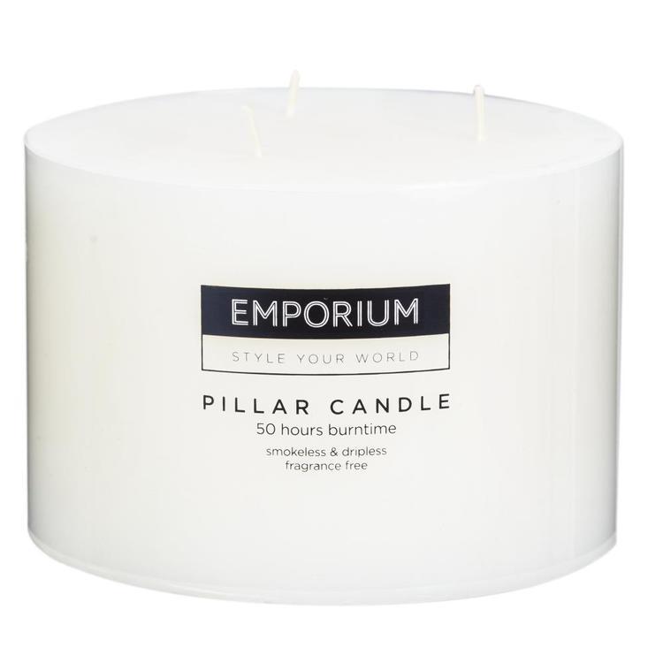 Emporium 3-Wick Round Pillar Candle