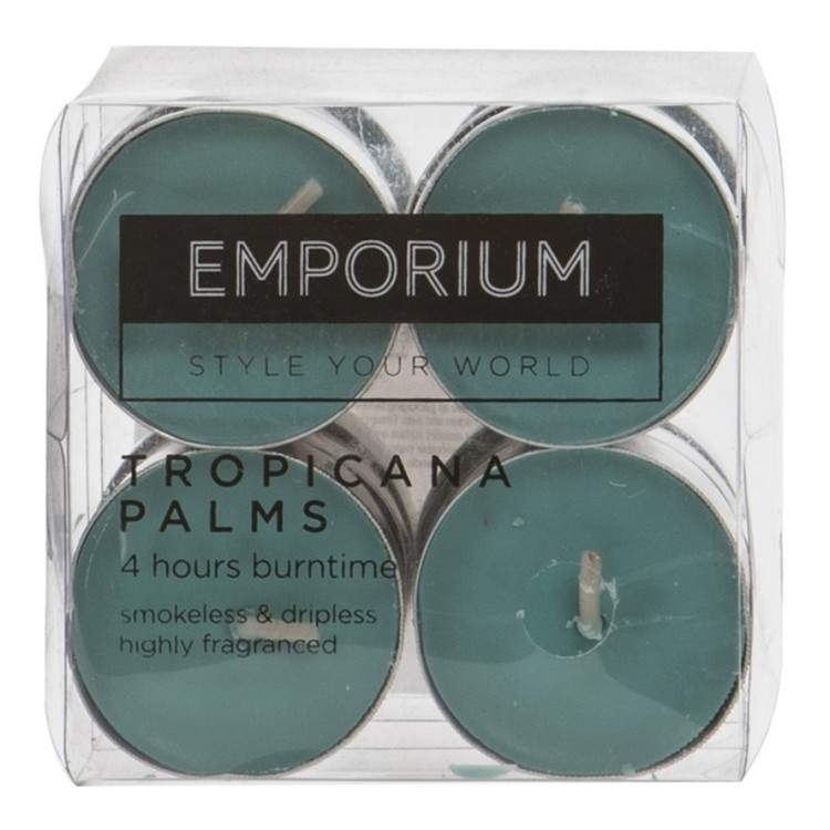 Emporium Tropicana Palms Tealight Candles 12 Pack