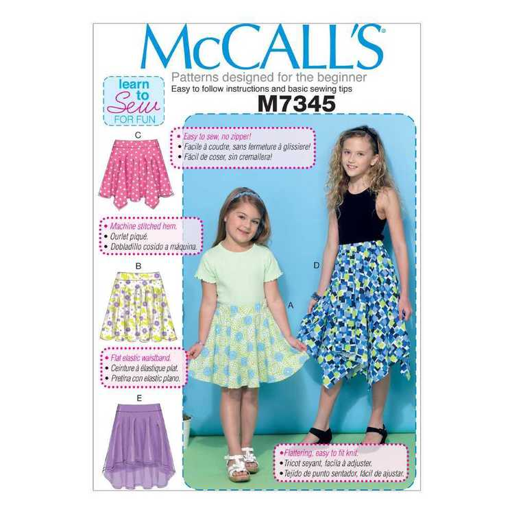 McCall's Pattern M7345 Children & Girls' Straight