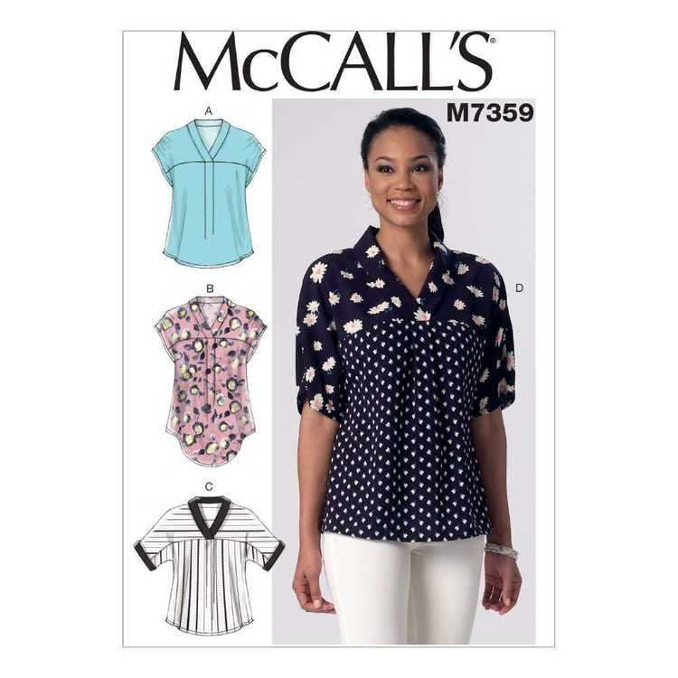 McCall's Pattern M7359 Misses' V-Neck Dolman Sleeve Tops