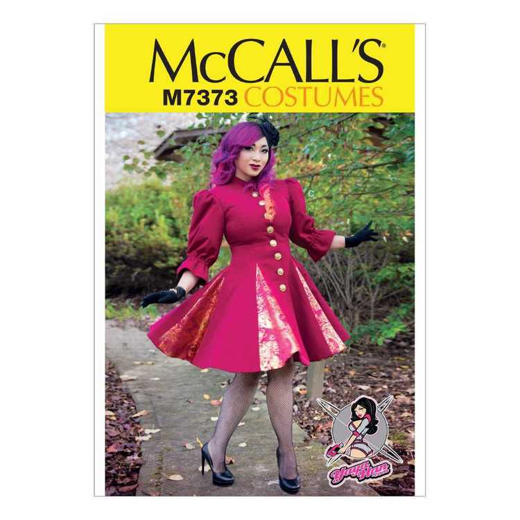 McCall's Pattern M7373 Fit & Flare Godet Coats With Stand-Up Collar