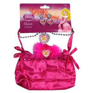 Disney Sleeping Beauty Bag And Jewellery Set