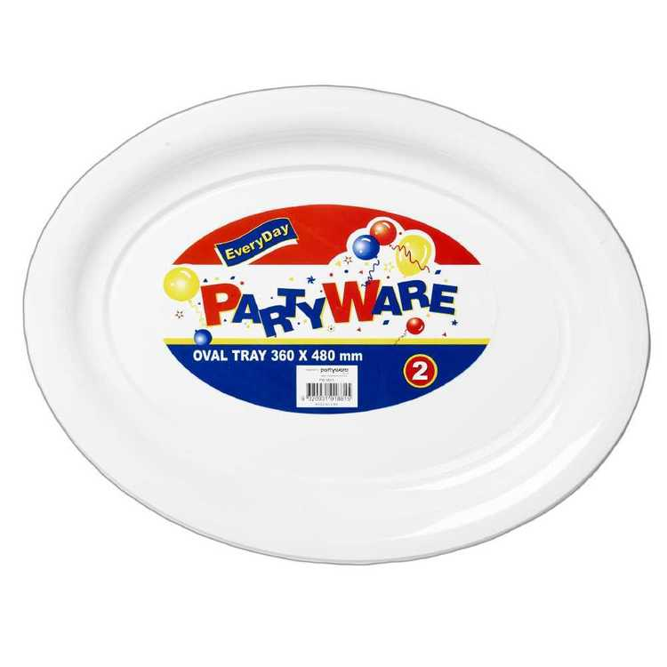 Partyware Oval Tray White