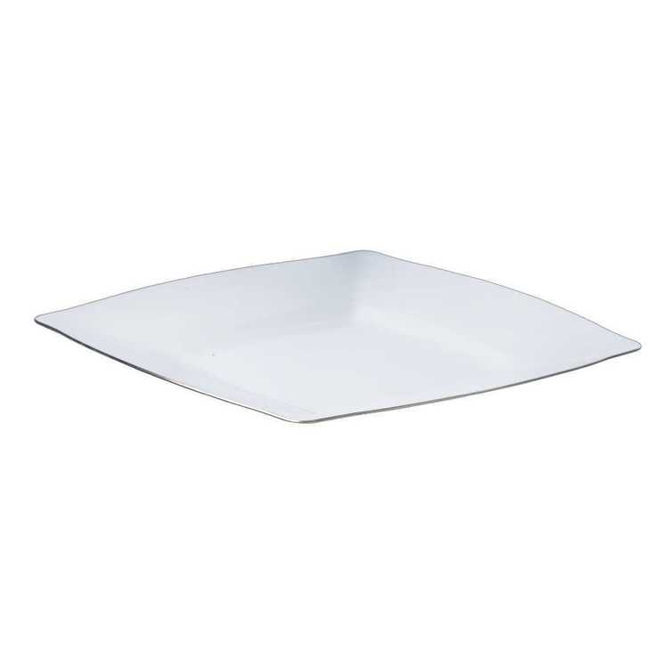 Partyware Heavy Duty Square Plate Silver