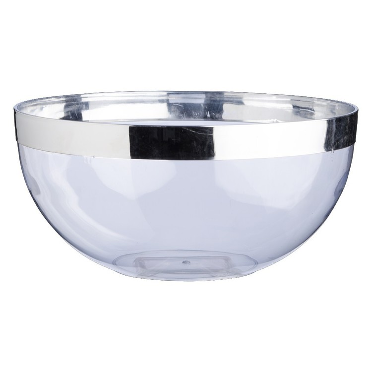 Partyware Serving Bowl Silver Rim  Silver 260 mm
