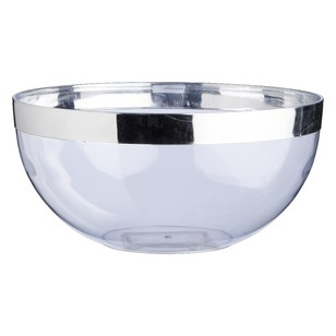 Partyware Serving Bowl Silver Rim