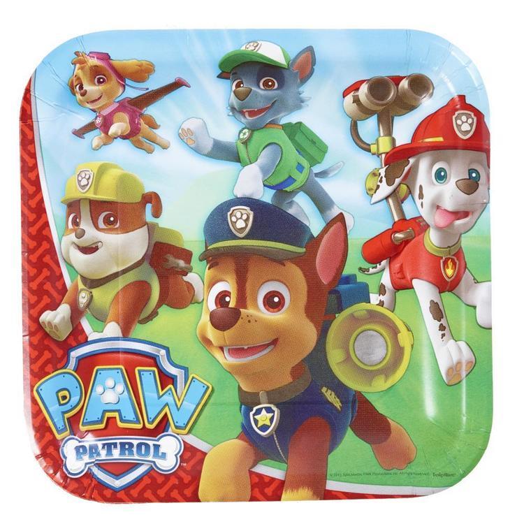 Paw Patrol Square Plates