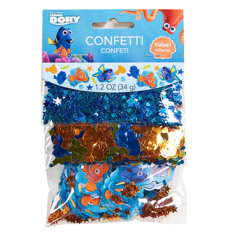 Disney Pixar Finding Dory Confetti Value Pack Blue